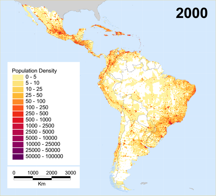 Historical Population Density Maps The History Forum - South american population map