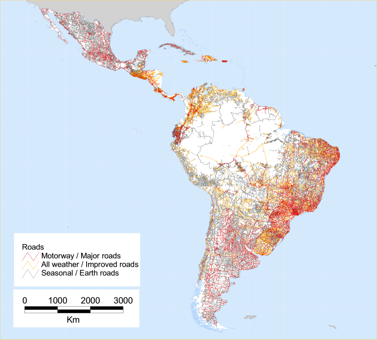 Map Of America By Population.Latin America And The Caribbean Population Database Documentation